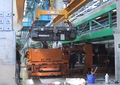 Service an den Transformatoren der ICE3 Züge
